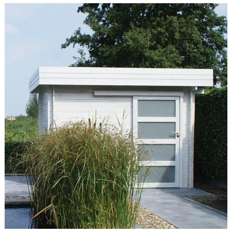 abri jardin toit plat pvc. Black Bedroom Furniture Sets. Home Design Ideas