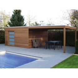 Sur mesure, abris de jardins à toit plat pour un style moderne et ...